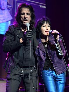 Alice Cooper and Joan Jett
