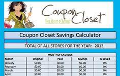 Free Coupon Savings Calculator