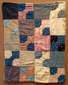 Old doll quilt found at a flea market.