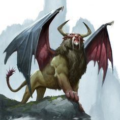 ArtStation - Griffin and Manticore, Grant Griffin Curious Creatures, Weird Creatures, Fantasy Creatures, Mythical Creatures, Fantasy Monster, Monster Art, Prehistoric Creatures, Mythological Creatures, Fantasy Images