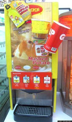 Yeah... gross. - - Mashed Potato Vending Machine In Singapore | 24 Vending Machines You Won't Believe Exist