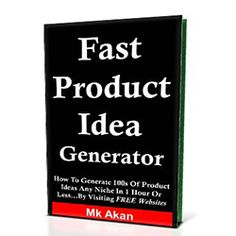 Fast Product Idea Generator Review - I really liked, Fast Product Ideas Generator by Mk Akan. It is a simple report but if you follow Mk Akan's easy steps, this is a very powerful way to find a product idea for a laser targeted hungry, frustrated group of individuals with lots of pain.  This report is perfect for the new marketer or anyone who is really not sure how to find hot product ideas that they can create or promote to a very hungry niche. Make Money Online, How To Make Money, Likes And Dislikes, Product Ideas, Free Website, Search Engine, Affiliate Marketing, Blogging, Group