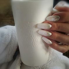 Mel's.. Chrome and White Nails by Tammy Taylor Nails SA. Done by Mel Viljoen