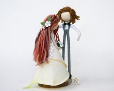Vintage wedding decoration , Waldorf Bride and Groom dolls inspiration, White bridal cala lily wedding dress doll , forest wedding theme Wedding Doll, Lily Wedding, Wedding Dress, Wedding Ceremony, Rustic Shabby Chic, Shabby Chic Style, Forest Wedding Decorations, White Bridal, Wedding White
