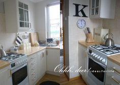 Wnętrza, Na życzenie.... - Specjalnie na życzenie Marzenki którą gorąco pozdrawiam i na niedosyt niektórych z Was moje kochane jeszcze raz pokazuję naszą maleńką... 5 W, Small Spaces, Kitchen Cabinets, House, Ideas, Home Decor, Decoration Home, Home, Room Decor