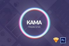 Kama - Mobile UI Kit by isavelev.com on @creativemarket