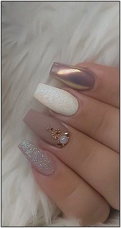 55 The Most Wonderful And Convenient Coffin Nail Designs 2019 - Page 42 of 56 - belikeanactress. com 55 The Most Wonderful And Convenient Coffin Nail Designs 2019 - Page 42 of 56 - belikeanactress. com,nails Design Perfect Nails, Gorgeous Nails, Stylish Nails, Trendy Nails, Elegant Nails, Elegant Bridal Nails, Bride Nails, Best Acrylic Nails, Matte Nail Art