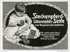 Original-Werbung/Inserat/ Anzeige 1911 - STECKENPFERD LILIENMILCH-SEIFE - ca. 85 x 110 mm