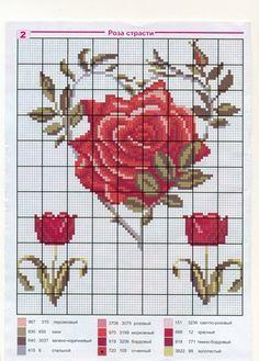 Amor-Perfeito-Amor: Gráficos ponto cruz rosas I