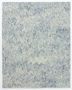 West Elm Vines Wool Rug 8 X10 Blue Lagoon Area Rugs