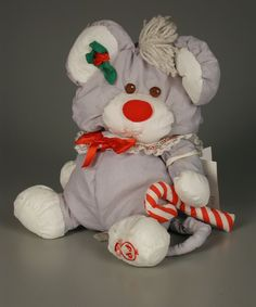 104.761: The Puffalumps Christmas Mouse | stuffed animal | Teddy Bears and Stuffed Animals | Toys | Online Collections | The Strong