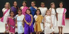 Greek toga costumes are fun and easy for Girl Scout Thinking Day or International event, Halloween or dress up. Directions available at MakingFriends.com