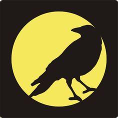 Crow pumpkin Stencil