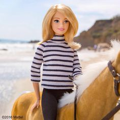 Starting my day on the beach! Horseback riding is one of the best ways to see Malibu. #MemorialDayWeekend #barbie #barbiestyle