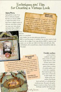 Techniques & Tips for Creating a Vintage Look, Pg. 1 ~ PLUS 12 Distress Supplies You Can Buy at the Dollar Store