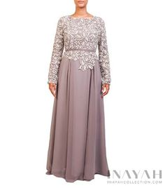 Dusty Mauve Crochet Dress   INAYAH www.inayahcollection.com #inayah#modestfashion#modestgowns
