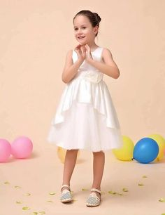 Qualidade Do Marfim crianças vestido de Festa à noite de Casamento Presente de Aniversário Festival Primavera Verão elegante princesa flor meninas vestidos de renda