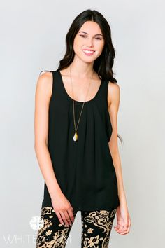 $15.99 | Don our Catherine Pleated Tank whether you're going for classy, casual, or somewhere in between! Feminine front pleats and a sleeveless silhouette complement this relaxed fit find. Its semi-sheer fabric and array of Fall hues make it the perfect layering piece for this season! Customize it to your liking by pairing it with jeans or leggings and your favorite cardigan! Available in two styles - spaghetti strap and sleeveless! | 7 Colors! | Shop this boutique deal on Jane.com