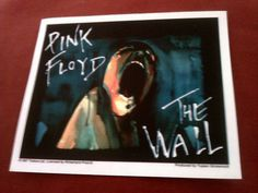 "Pink Floyd The Wall 5""x4.25"" STICKER DECAL deadstock new old stock"