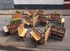 Скамейки из поддонов : Фотографии красивых вещей — мебель, интерьеры…