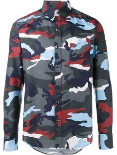 MONCLER GAMME BLEU camouflage print shirt. #monclergammebleu #cloth #shirt
