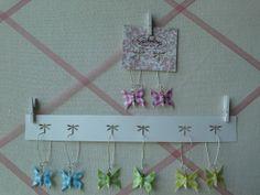 Boucles d'oreilles papillon en vichy de différentes couleurs