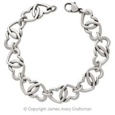 Double Heart Link Bracelet from James Avery - $230.00