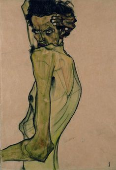 schiele-self portrait