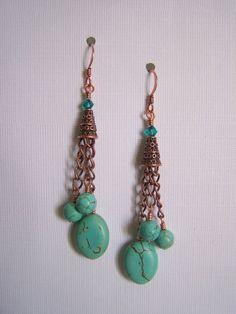 Turquoise Earrings  by Fanceethat, $18.00