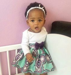 So adorable! Ankara Styles For Kids, African Dresses For Kids, African Babies, African Children, African Women, African Print Fashion, African Fashion Dresses, African Outfits, African Attire