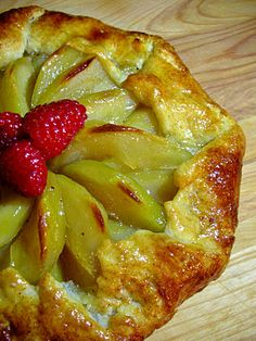 Pear Galette with Creme Anglaise Must try with quince fruit.