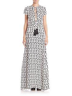 Derek Lam - Printed Silk Tassel Gown