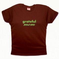 Flirty Diva Tees Woman's LooseFit T-Shirt-Grateful Mom-Brown-Pearl Green (Apparel)  http://www.picter.org/?p=B005SZ2T9W