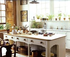 Gorgeous kitchen in Jasper Conran's country house, via The Rural Society