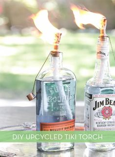 Make It: DIY Tiki Torches from Upcycled Glass Bottles