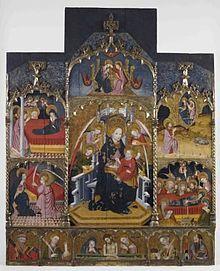 """""""Retaule de la Mare de Déu de VINSEUM"""" de Pasqual Ortoneda. És la proposta de VINSEUM per al viquiprojecte 'Una Joia del Museu' (DIM 2013)"""