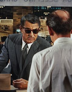 """Cary Grant in """"North by Northwest""""...  dir Alfred Hitchcock, 1959. - Such a good movie!"""