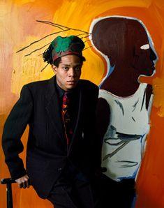 Jean-Michel Basquiat, photo by Andy Warhol Jean Basquiat, Jean Michel Basquiat Art, Robert Rauschenberg, Andy Warhol, Basquiat Paintings, Basquiat Artist, Pop Art, Guggenheim Bilbao, Brooklyn