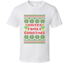 Unisex Hunter Family Christmas Ugly Sweater T-Shirt