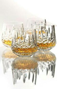 All Gifts Online, Waterford Crystal, Waterford, Lismore Roly Poly Waterford Lismore, Waterford Crystal, Cut Glass, Glass Art, Crystal Glassware, Mellow Yellow, Wine Glass, Pottery, Tableware