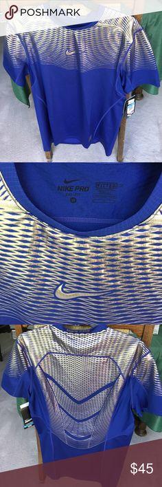 NWT Nike dry-fit tee NWT Nike pro dry-fit tee. 93% polyester 7% spandex. Happy poshing😊✌️ Nike Shirts Tees - Short Sleeve