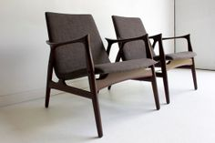 Folke Ohlsson Lounge Chairs for Dux Inc.