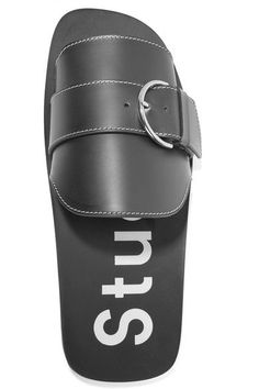 Acne Studios - Virgie Buckled Leather Slides - Black - IT36