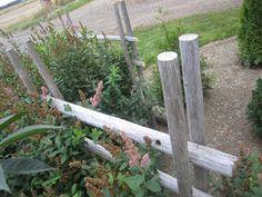 Tee se itse -ideoita puutarhaan : Heinäseipäistä aitaa