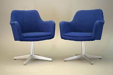 general fireproofing Mid Century Modern Vintage pair chair eames...