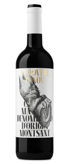 Vi Novell 2015 - For this edition we were inspired by Sant Martí, protector of the people who work with horses, mules or horseshoe cattle. Wine Label Design, Bottle Design, Bourbon, Impression Etiquette, Fruity Wine, Pinot Noir Wine, Wine Packaging, Design Packaging, Wine Brands