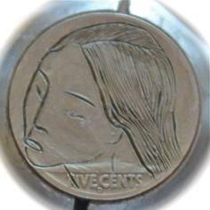 ANNIE DOGWOOD HOBO NICKEL - SIMPLE BEAUTY - 1937 BUFFALO NICKEL REVERSE CARVING Hobo Nickel, Paper Cutting, Annie, Buffalo, Coins, Carving, Simple, Beauty, Rooms