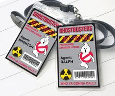 Ghostbusters Birthday Party, Badge Template, Ghost Busters, Some Text, Printer Paper, Id Badge, Badge Holders, Birthday Party Favors