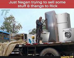 Jeffrey Dean Morgan as Negan from The Walking Dead  #meme, #funny, #triggered, #stuffandthangs, #thewalkingdead