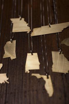 Robinson Lane State Shape Necklaces for Bourbon & Boots